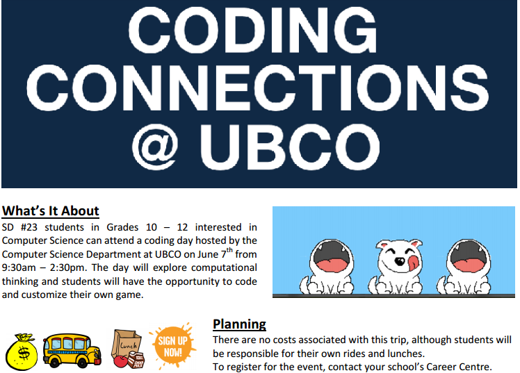 Coding Day June 7th at UBCO