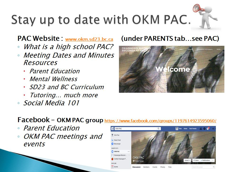 Stay up to date with OKM PAC.