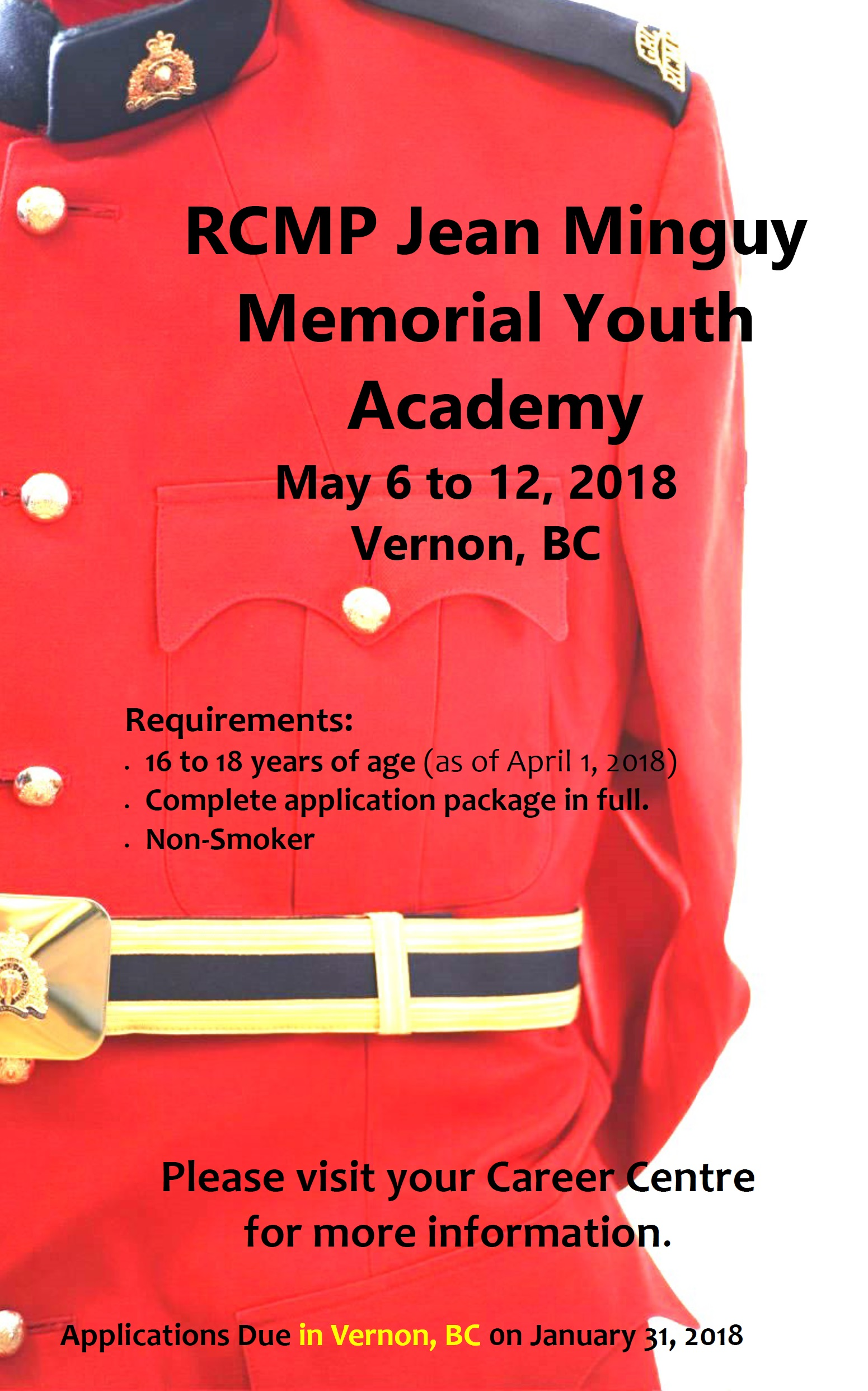 2018 RCMP Jean Minguy Memorial Youth Academy