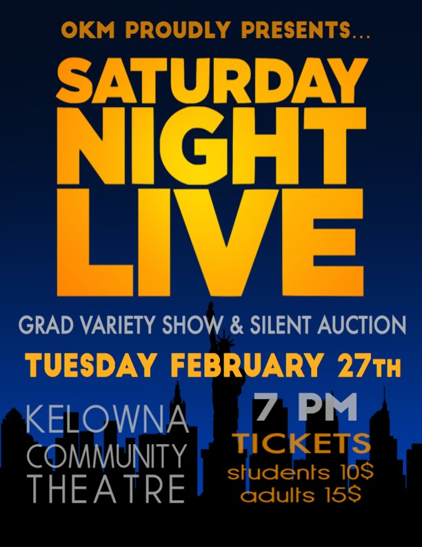 Grad Variety Show/Fashion Show/Silent Auction